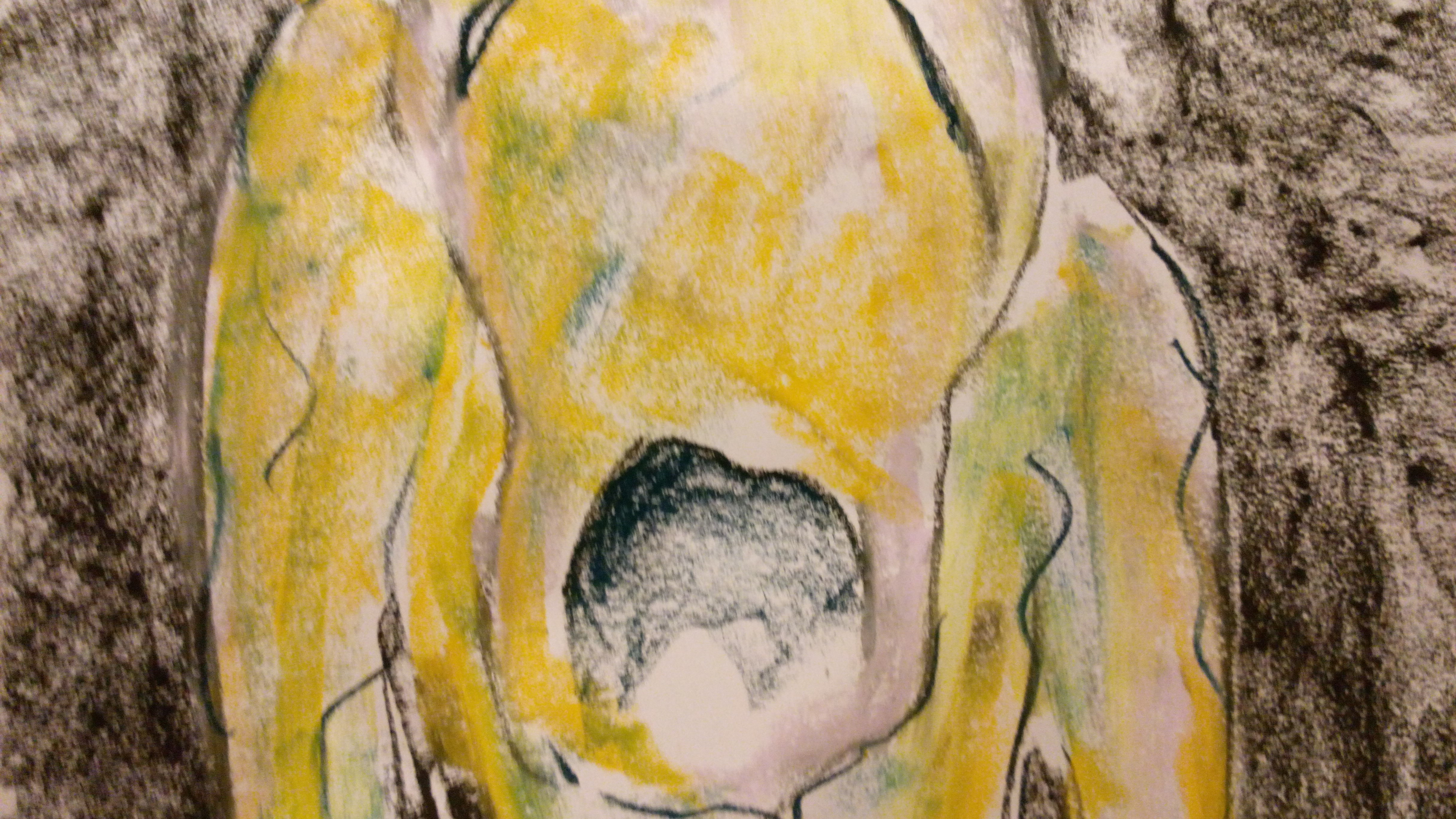 Figure (2016, soft pastel painting, 52cm/33cm)