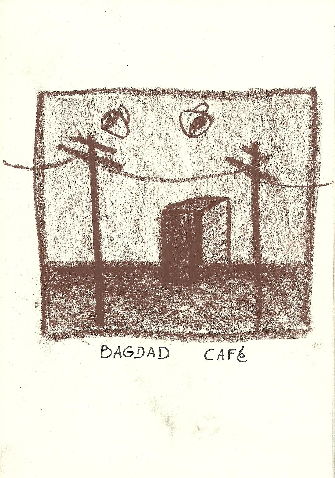 Bagdad Café (2014, conté chalk, 1/5/10cm)