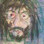 Selfie 1 (pastel, 46/72 cm)
