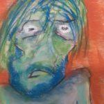Selfie 2 (pastel, 46/72 cm)