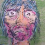 Selfie 3 (pastel, 46/72 cm)